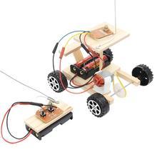 DIY беспроводной пульт дистанционного управления гоночная Модель Набор Деревянный Детский физический научный эксперимент игрушка набор Собранный автомобиль обучающая игрушка