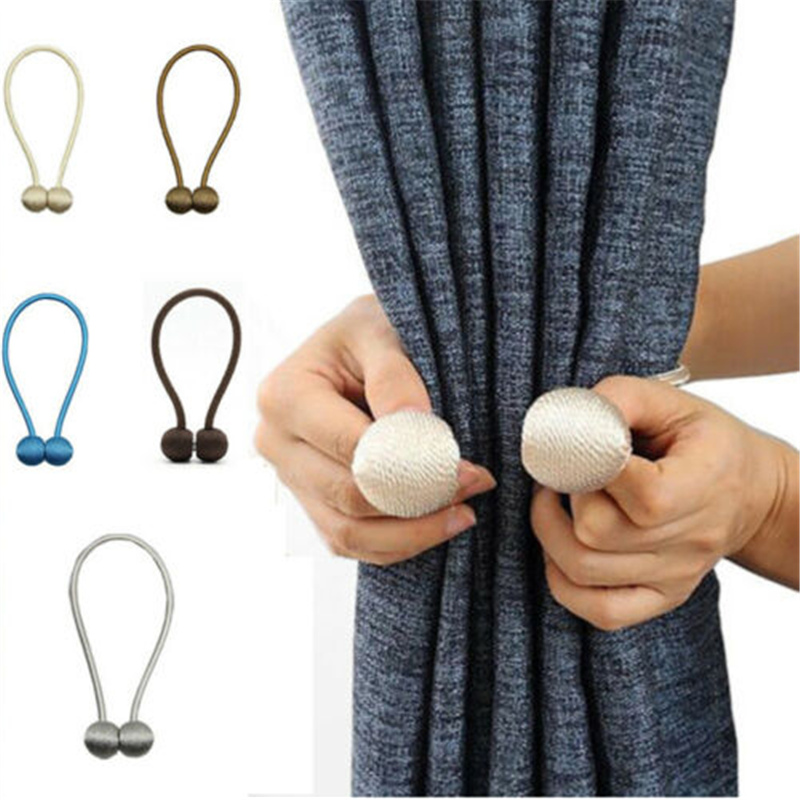 Permalink to Hot Curtain Buckles 2019 Newest Magnetic Pearl Ball Curtain Tiebacks Backs Holdbacks Buckle Clips Curtain Decorative Accessories