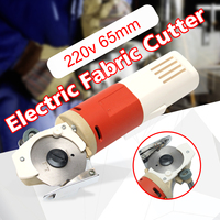 Drillpro 220V AC 150W 65mm Rotary Blade Electric Round Knife Cloth Cutter Fabric Cutting Machine Nibbler