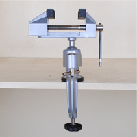 new Small Aluminum Alloy Vice 360 Degrees Rotation Clamp Metal working Woodworking Clamping Tool