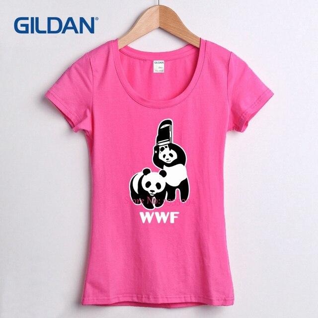 912a3afe8391b Rojo camiseta para mujer 2018 Wwf oso Panda T diseño camisa para mujer de  verano Camiseta