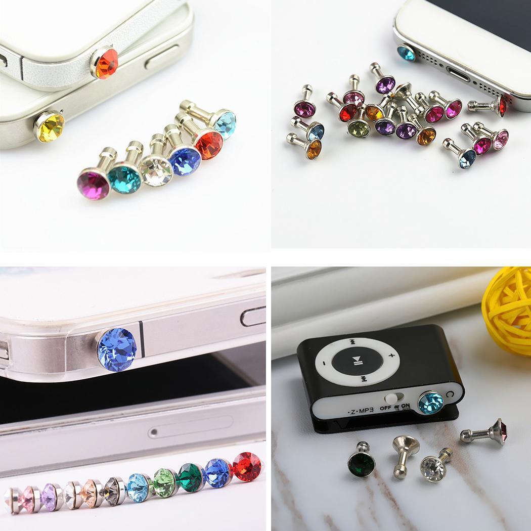 5pcs 10pcs Bling Universal 3 5mm Cell Phone Earphone Plug For iPhone 6 5s font b