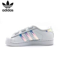 Adidas Superstar Cf C Original Kinder Klassische Skateboard Schuhe Kinder Anti-Rutschig Sport Turnschuhe # AQ6280