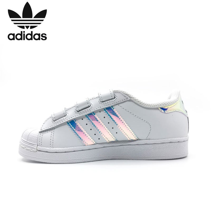 Adidas Superstar Cf Original Kids Classic Skateboarding Shoes Children Anti-Slippery Sports Sneakers #AQ6280
