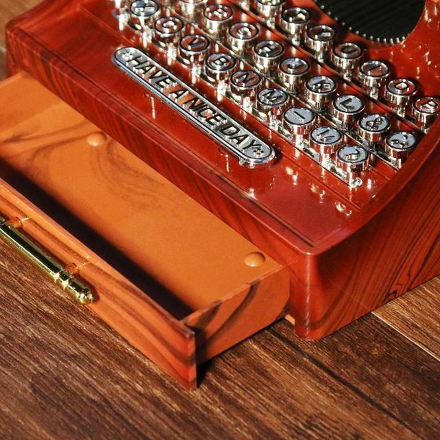 Retro Typewriter and Camera Shaped Music Box