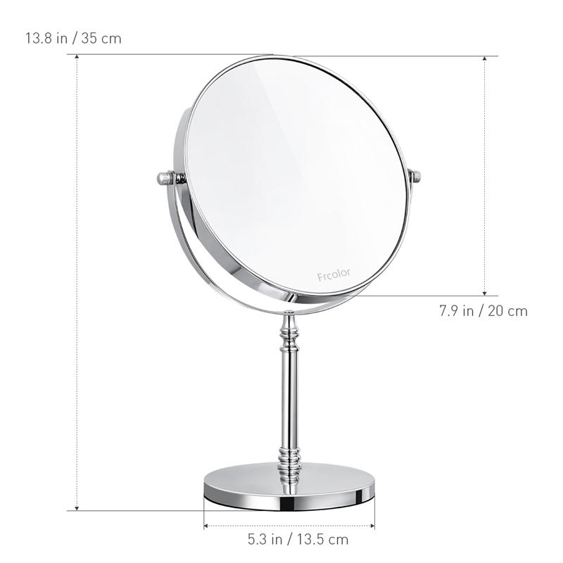 Image 2 - 8 Inch 10X Magnifying Mirror Double sided Makeup Mirror Clear 360°Rotation Easy Cleaning Desktop For Makeup Cosmetic Beauty ToolMakeup Mirrors   -