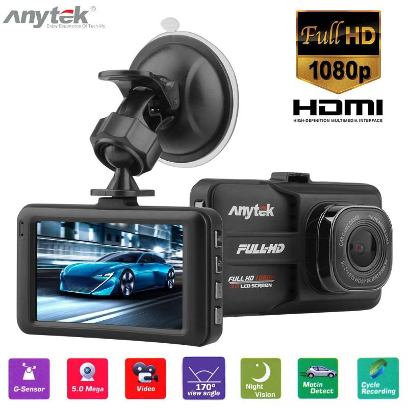 Anytek Car-Dvr-Camera Video-Recorder Dash-Cam Night-Vision 1080P FHD WDR 170 A98 Degree-Lens