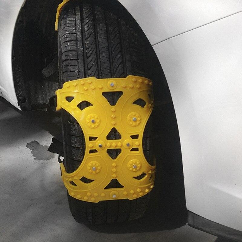 Chaîne à neige universelle pour voiture chaîne anti-dérapante pour pneu Automobile Tendon neige hors des chaînes endormies véhicule tout-terrain neige d'urgence