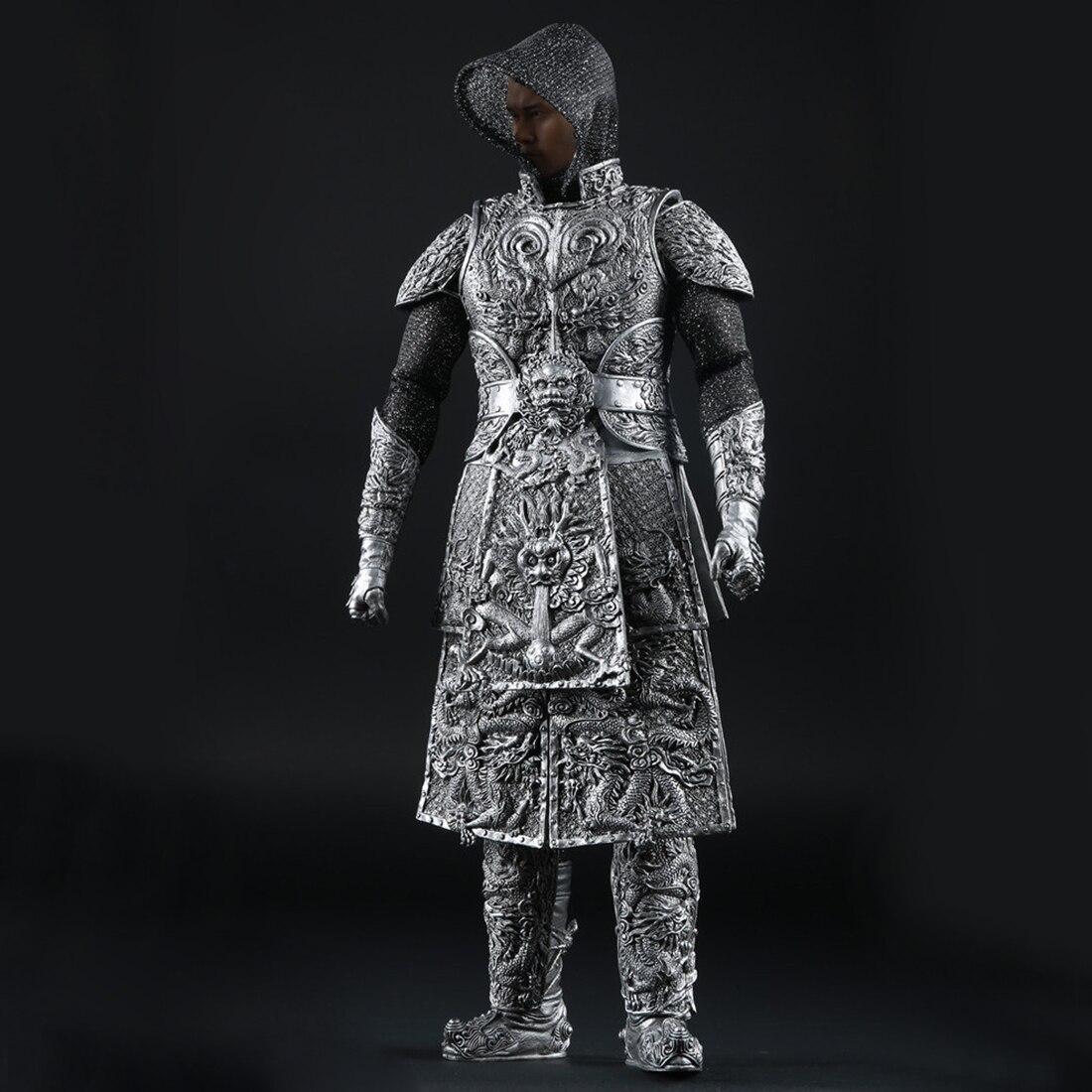 1:6 древний дракон шаблон Armour Barde одежда для 12 Мужской солдат Модель Фигурки Игрушка аксессуар серебро - 2