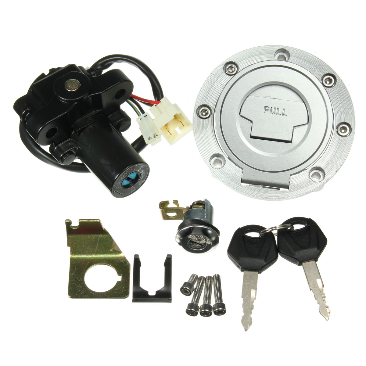 Fuel Gas Cap Ignition Switch Seat Lock With Key Kit For Yamaha YZF R1 R6 2001 2002 2003 2004 2005 2006 2007 2008 2009 2010 2011