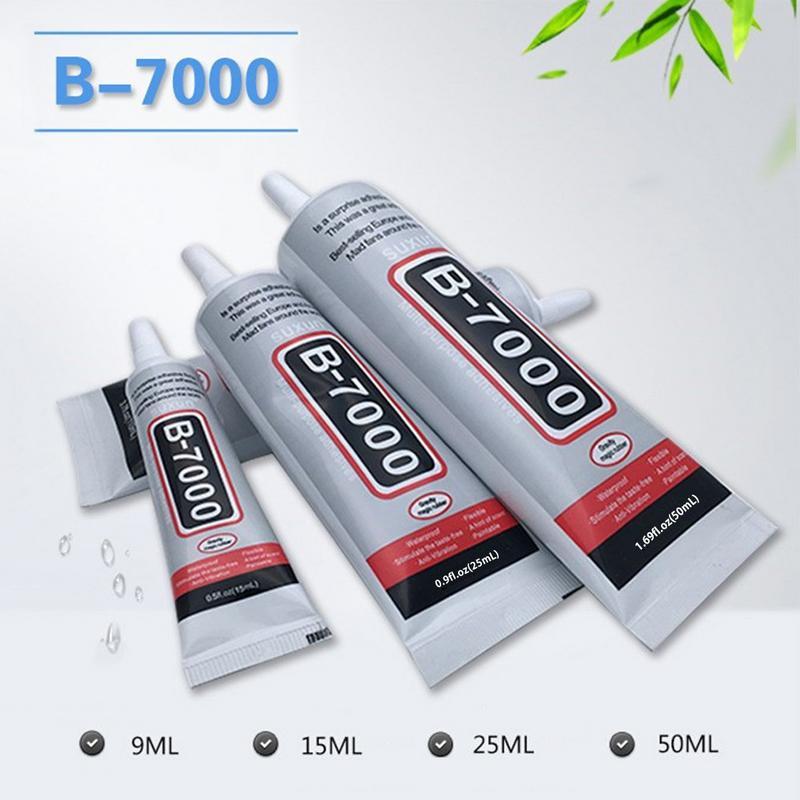 9 15 25 50ML Electronic Component Glue DIY Jewelry Rhinestone Pasting Adhesive With Pin Phone Screen Repair B-7000 Strength Glue
