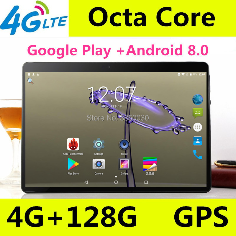 2019 Novo Android 8.0 os 10 polegada tablet pc Núcleo octa Núcleos 8 64 4 GB RAM GB ROM 1280*800 IPS Tablets 10.1 Presentes