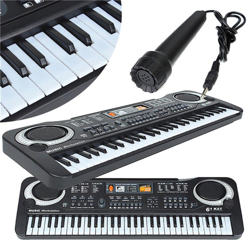 ABS 61 клавиши 16 звуков 10 ритмов электрическая клавиатура многофункциональное мини электронное пианино с микрофоном пианино игрушка для детей