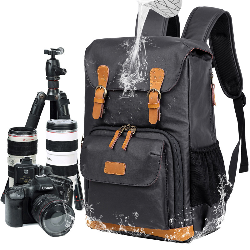 DSLR Waterproof Canvas Camera Bag Multi-functional Photography Bag Outdoor Wear-resistant Camera Backpack For Canon/ Sony/Nikon