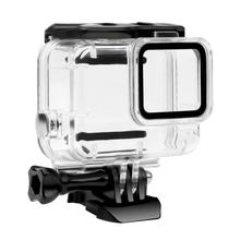 Go pro Accessories Waterproof Case Housing for Gopro Hero 7 Silver White Underwater Protection Shell Box