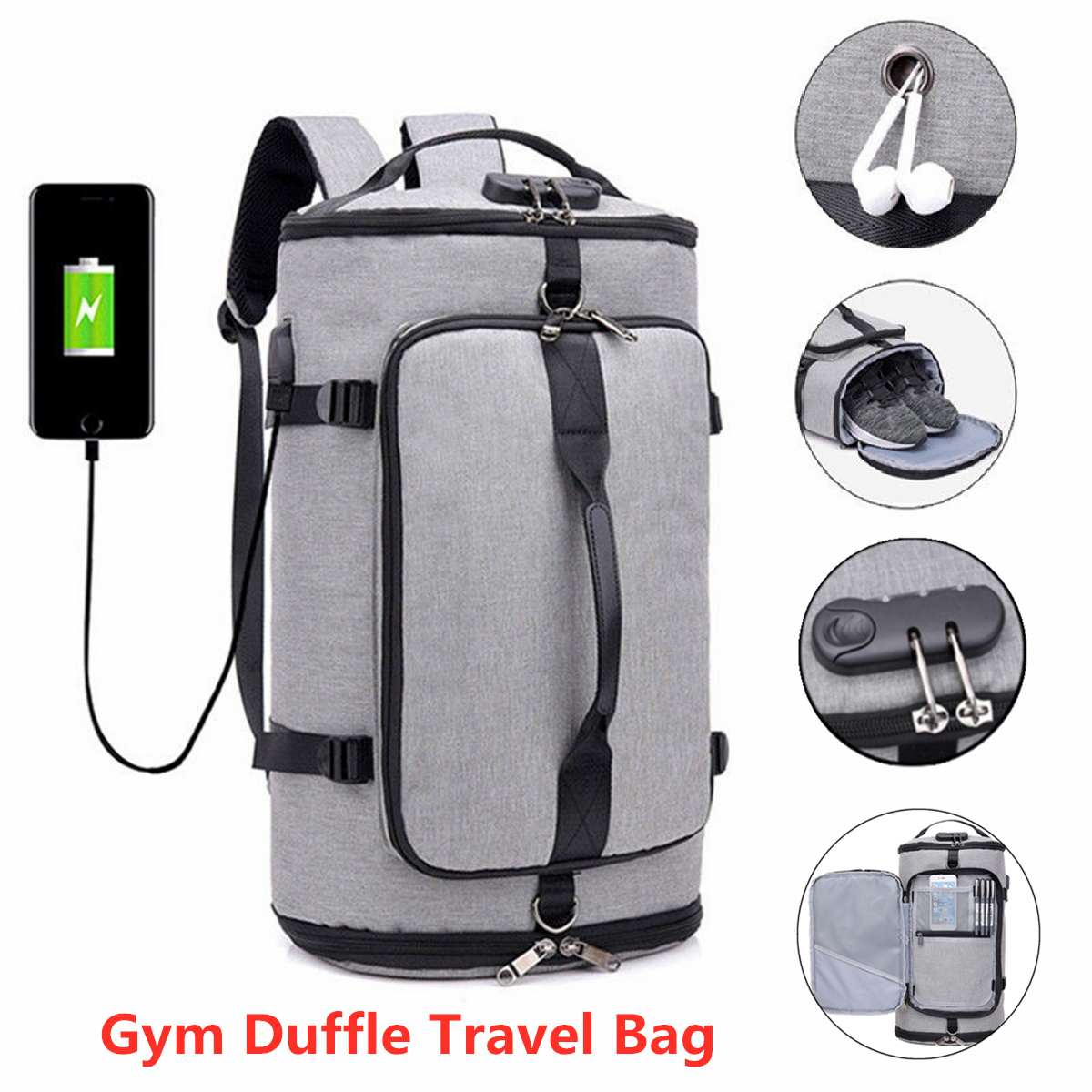 Men Traveling Bag Nylon Back Bag Men Shoes Travel Backpack Sport Bag Backpack Multifunction Tote Gym Bags For Shoes Storage