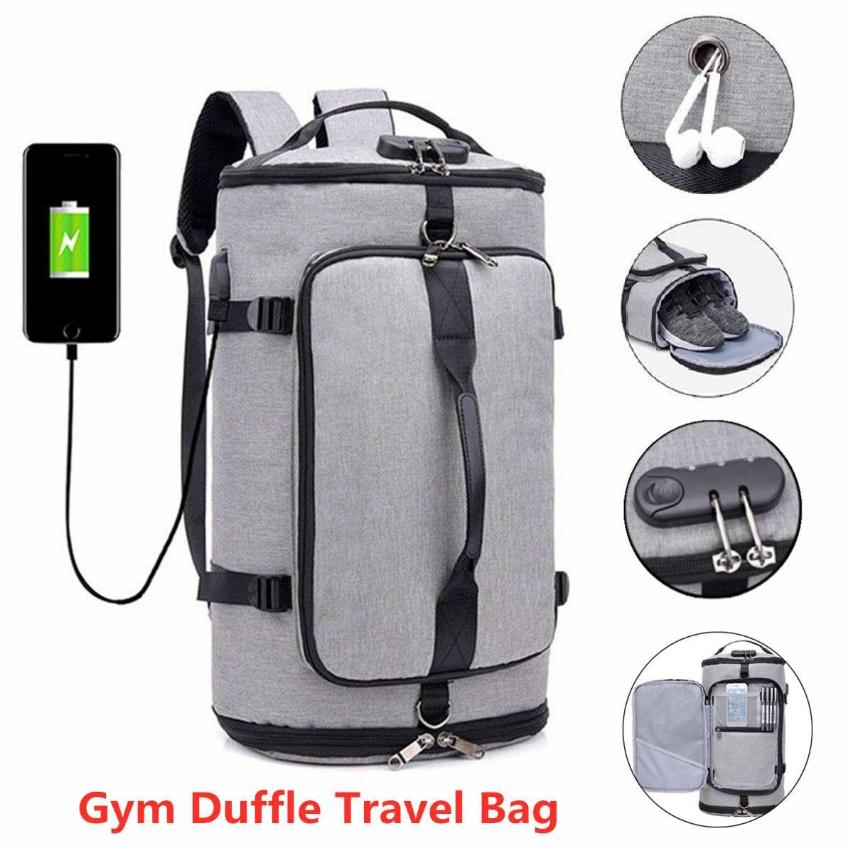 Men Traveling Bag Nylon Back Bag Men Shoes Travel Backpack Sport Bag Backpack Multifunction Tote Gym Bags For Shoes Storage