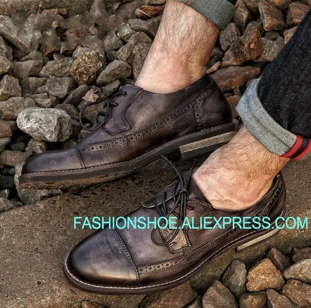 British Leather Shoes Men Brogue Carved Oxfords Handmade Formal Business Shoes Big Size euro 46British Leather Shoes Men Brogue Carved Oxfords Handmade Formal Business Shoes Big Size euro 46