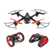 H3 Fpv Wifi Camera 3 In 1 Rc Tank Bounce Car With Quadcopter Drones For