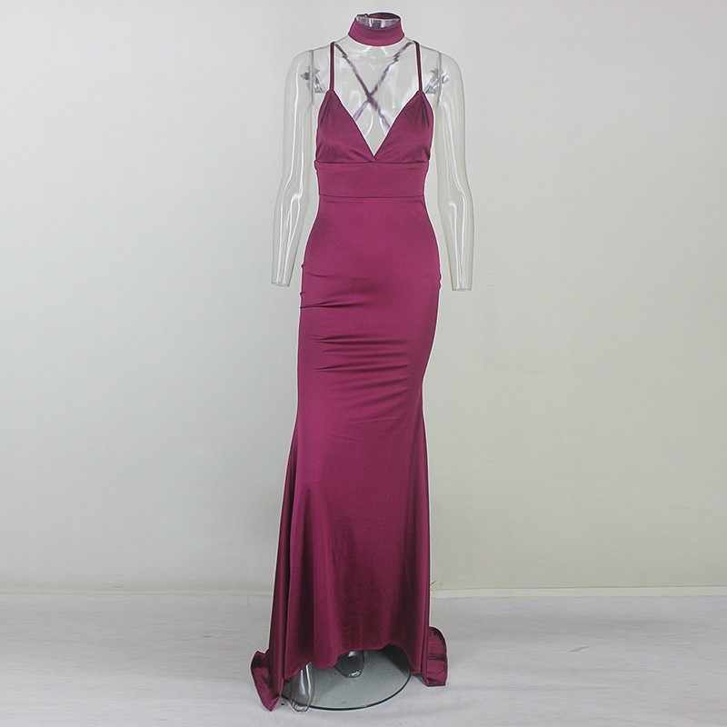 2d2b99b955e50 Detail Feedback Questions about Yissang Sexy V Neck Dress Long ...