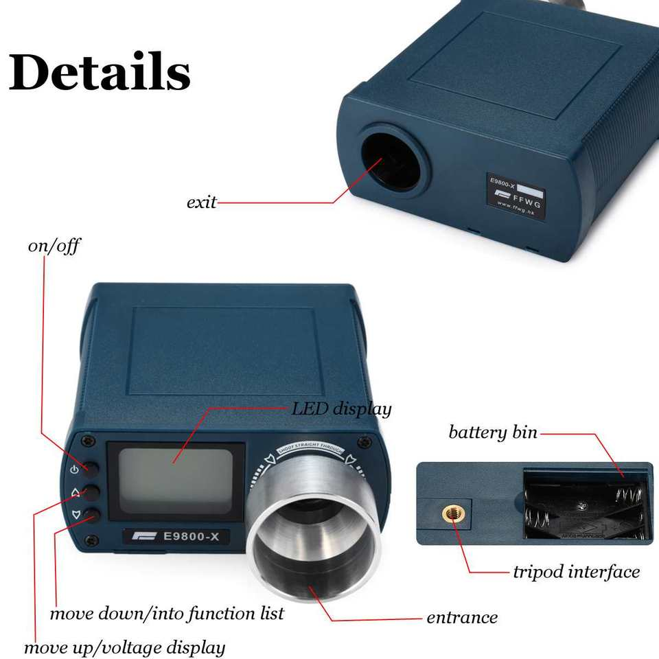 Mini Tripod E9800-X Precision Shooting Chronograph Airsoft BB Speed Tester Tool