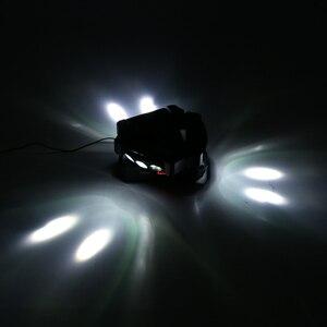 Image 5 - Party Disco KTV 90 W 9LED RGBW kolor DMX512 kontrola dźwięku 16/48 kanałowy Mini trójkąt lampa pająk Beam etap światło dla klubu