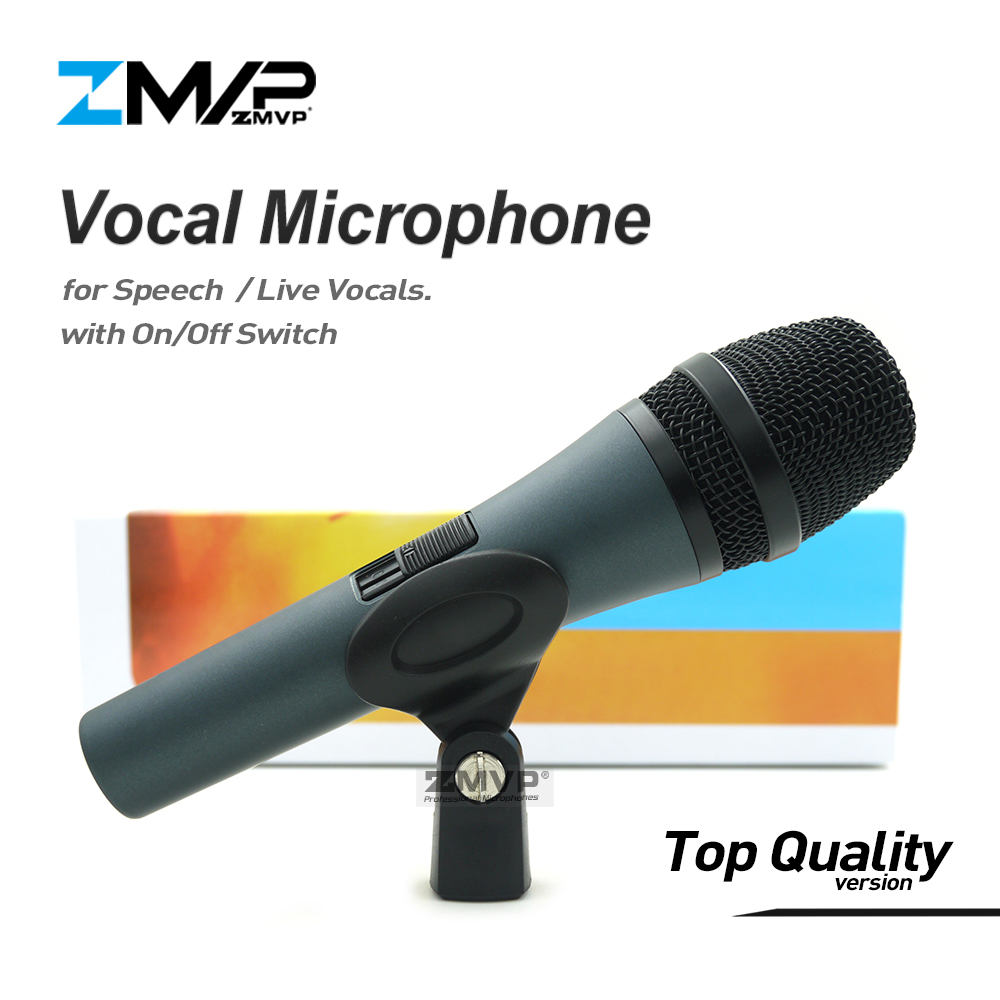 Top Quality Professional 845 Super-cardioid karaoke Live Vocals Dynamic Wired Microphone Microfone Mike Mic with on/off SwitchTop Quality Professional 845 Super-cardioid karaoke Live Vocals Dynamic Wired Microphone Microfone Mike Mic with on/off Switch