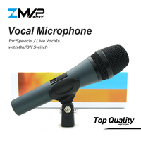 Top Quality Professional 845 Super cardioid karaoke Live Vocals Dynamic Wired Microphone Microfone Mike Mic with on/off Switch