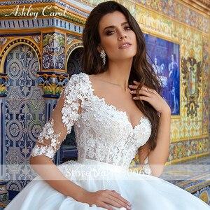 Image 3 - Ashley Carol Spitze Prinzessin Hochzeit Kleid 2020 Ballkleid Elegante Perlen Appliques Braut Vintage Braut Kleider Vestido De Noiva