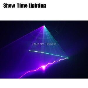 Image 5 - להראות זמן בית המפלגה DJ לייזר מקרן סורק קו לייזר DMX RGB שלב אפקט תאורת עבור דיסקו המפלגה חג המולד 1 חור לייזר להראות