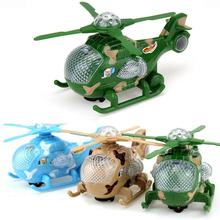 Colorful LED Lighting Plane Helicopter Projection Toy Kids RC