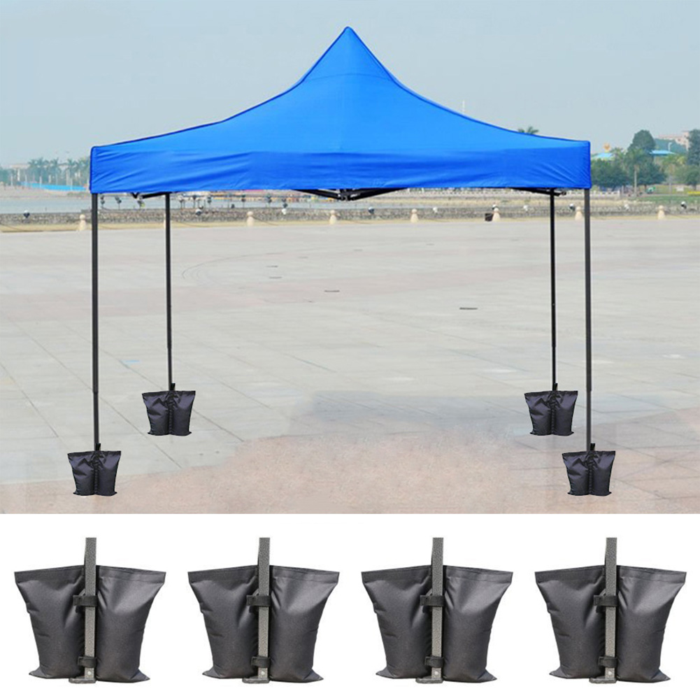 4Pcs Waterproof Fixing Oxford Awning Tent Stand Outdoor Camping Umbrella Instant Feet Sun Shelter Weighted Sand Bag Holder
