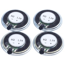 4 Pcs 1.5W 8 Ohm 30mm Internal Magnetic DVD EVD Player Audio Speaker(China)