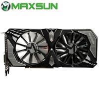 Оригинальный MAXSUN Nvidia GeForce RTX 2060 Терминатор 6 Гб Видео видеокарты для игр GDDR6 192bit HDMI DVI DirectX 12