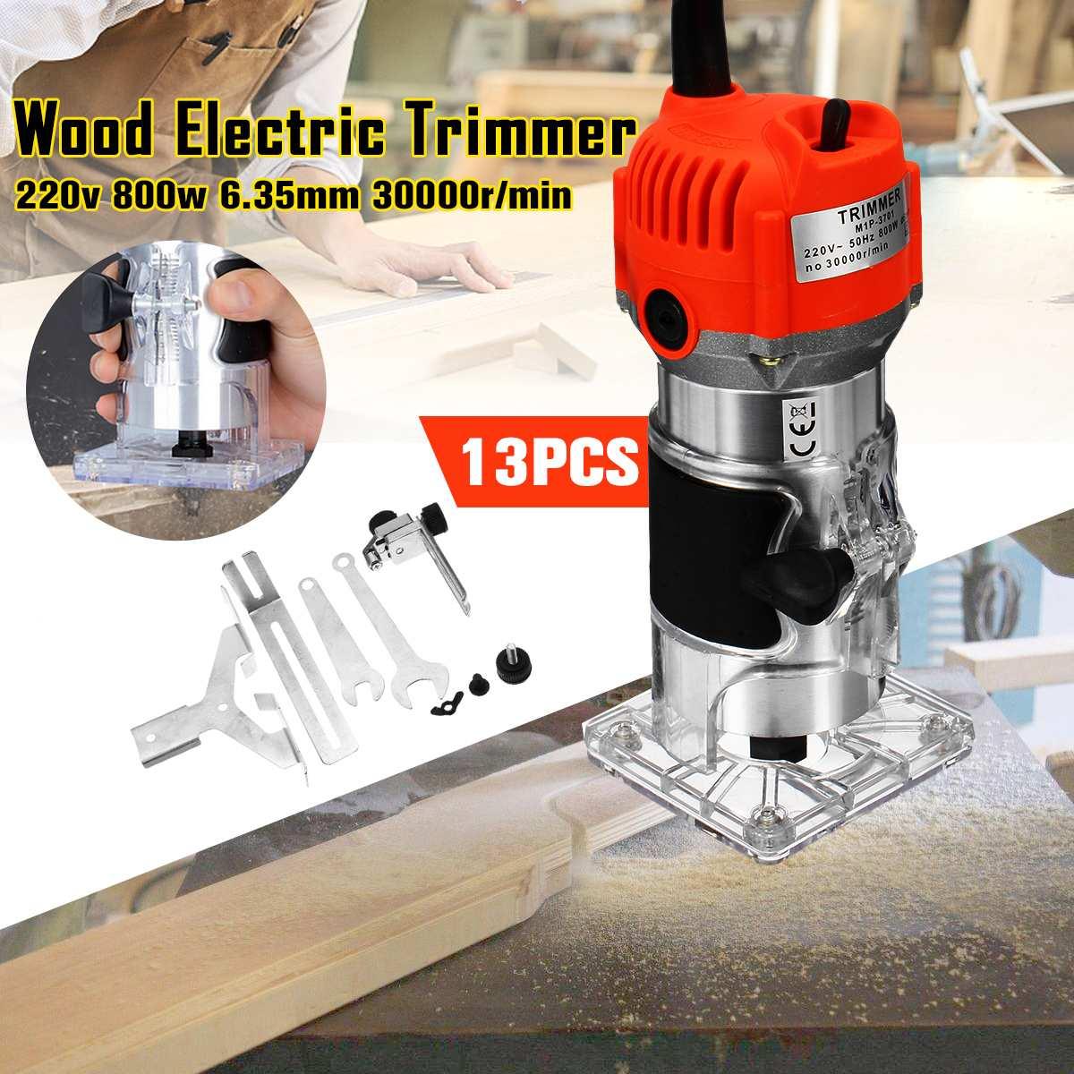 Tondeuse électrique à bois 800 W 30000 tr/min gravure sur bois rainurage Machine de découpage à la main sculpture sur bois routeur