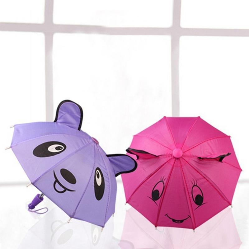 18 Inch Umbrella For American Girl Doll Toy Accessory Mini Umbrella Cute Smile Pattern Umbrella Multi-color Doll Umbrella(China)