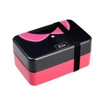 730Ml Tie pudełko na lunch pojemnik bento dla dziewczynek Lady dzieci Sushi Lunchbox pojemnik na jedzenie z obiadem mikrofalówka dotyczy w Pudełka śniadaniowe od Dom i ogród na