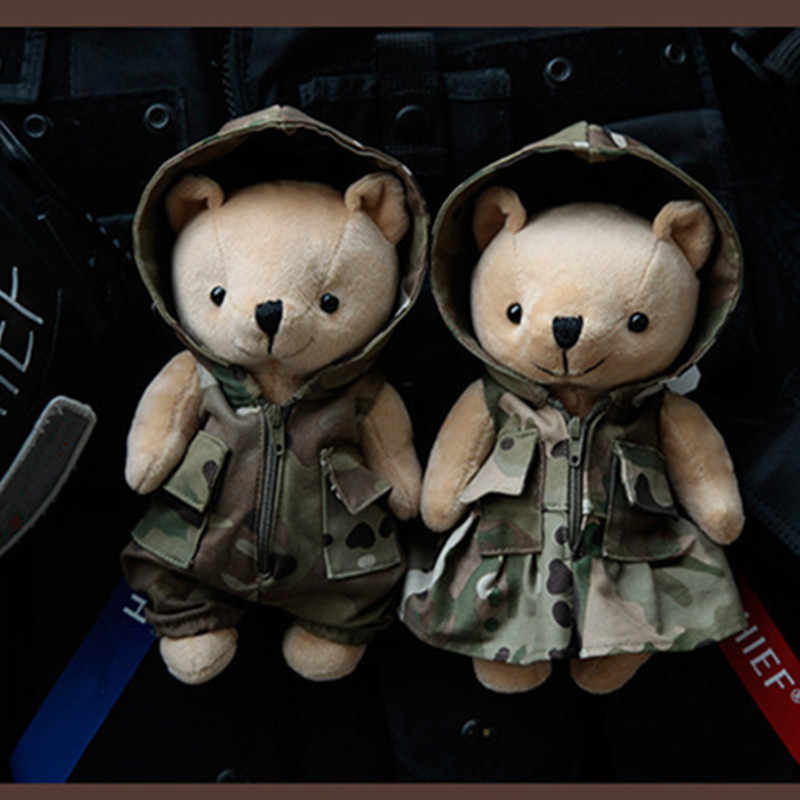Tactical Doll Bear Military Outdoor Bag Vest Hanging Hunting Accessory Tactics Pendant Detachable Washed Camouflage Accessories