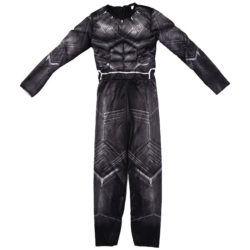 Movie Black Panther Costume Halloween Boys Kid Children's Day Gift Outfit