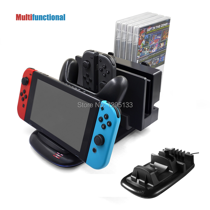 Multifunctional Charging Dock For Nintend Switch Console Controllers Stand Holder for Nintendo Switch Dock and CD Games Storange