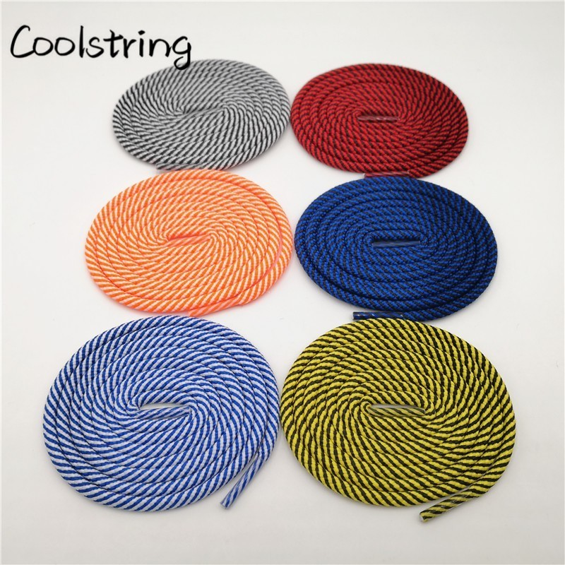 Coolstring New Polyester Promotional Shoelaces 2 Colors Mixed Outdoor Sports Shoestrings Skating Bootlaces White Red Black Laces