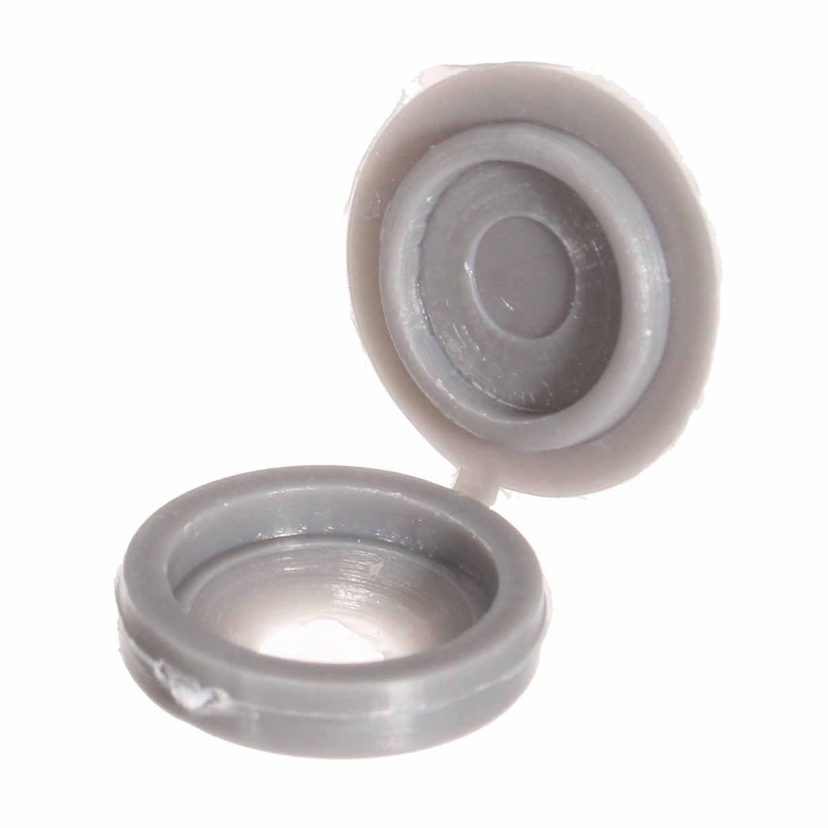 100Pcs Scharnierende Plastic Schroef Cover Fold Caps Knop Voor Auto Meubels Decoratieve Cover Pan hoofd verzonken schroeven