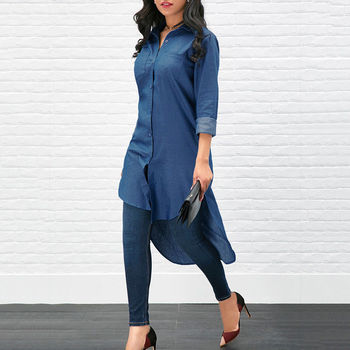 Denim T-Shirt Dress 5