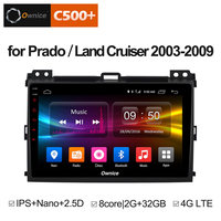 For Toyota Prado 2004 2005 2006 2007 2008 2009 Land Cruiser 2003 Stereo auto Play DAB PC vehicle Multimedia Android 8.1 DVD GPS