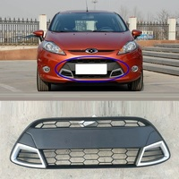 Decorative Car Styling Auto Upgraded Exterior Grills Modification Front Net 03 04 05 06 09 10 11 12 13 14 FOR Ford Fiesta