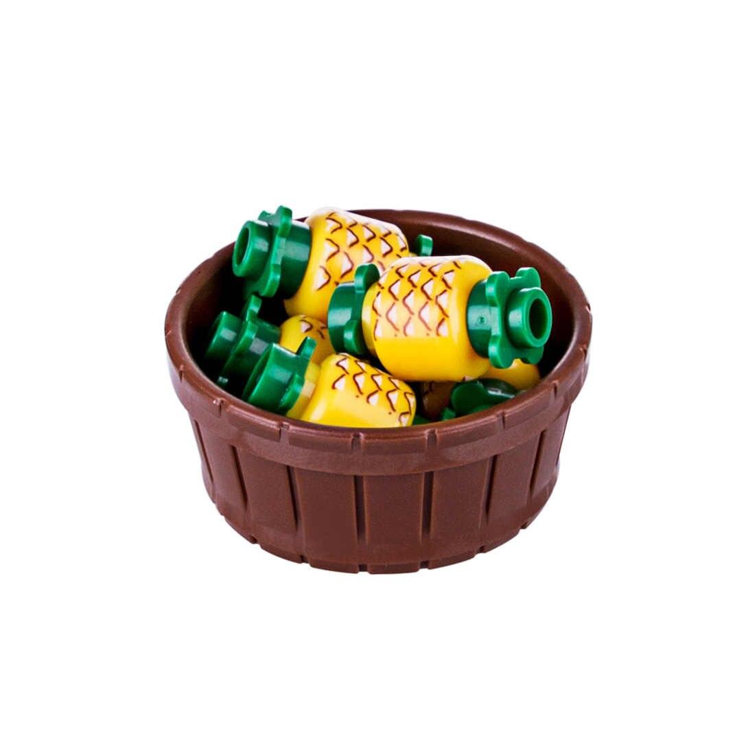 326pcs apple Banana MOC Pequena Partícula Cenoura Cereja Pine apple Conjunto Bloco De Construção Figura Acessório Modelos Brinquedos Para As Crianças crianças