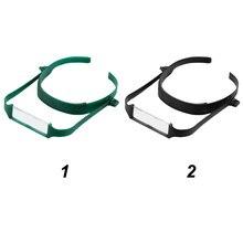 fb54115e7b7a7 Leitura Lupa Cabeça Plástico ABS Lens Início Suporte Ajustável Óculos de  Meia Idade Folha Lupa Cabeça