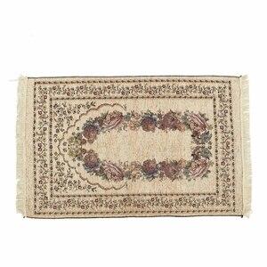 Image 4 - 110*70CM Muslim Prayer Rug Carpet Mat Ramadan Eid Gift Cotton Kneeling Carpet Yoga Mat Turkish Islamic Bedroom Home Decor