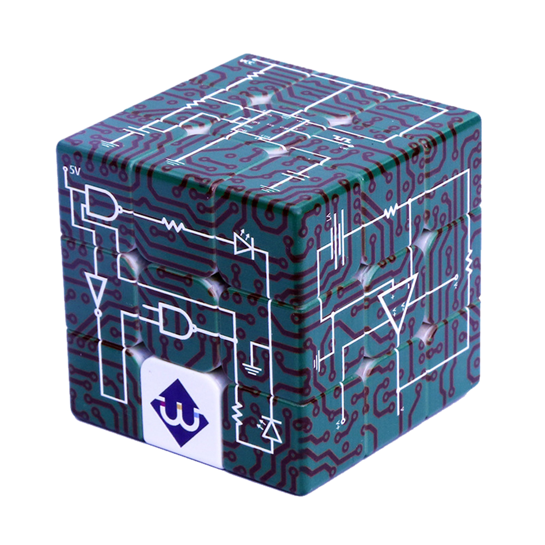 Electric Circuits 3x3x3 Relief Effect Magic Cube IQ Puzzle Cube Game For Blind Man