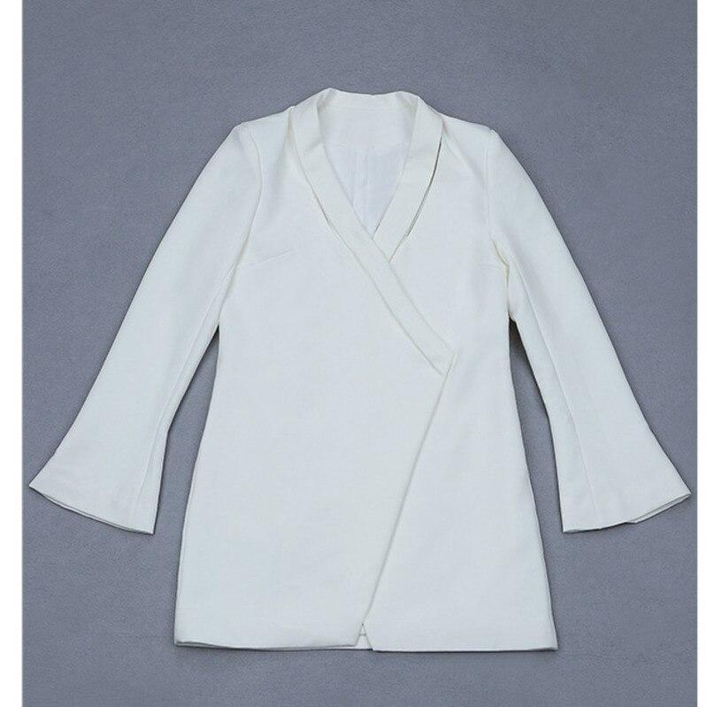 Hiver Blazers Pleine Ample Solide Blazer Couleur Femmes Robe Veste 2019 Manches Femme Sexy Vestes Automne Nattemaid Et Blanc qUtfXRq